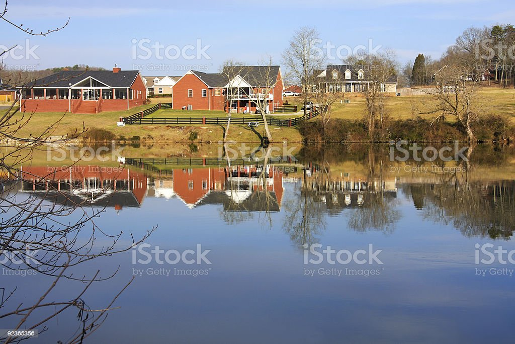 Houses on the River stock photo