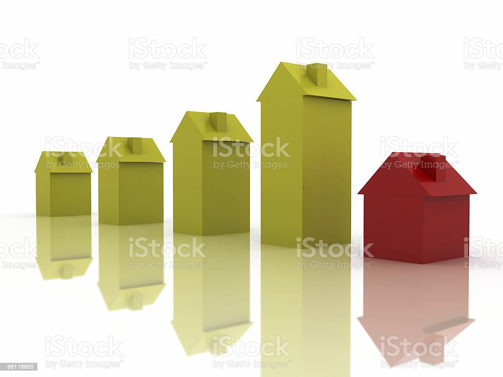 Houses Prices Chart royalty-free stock photo
