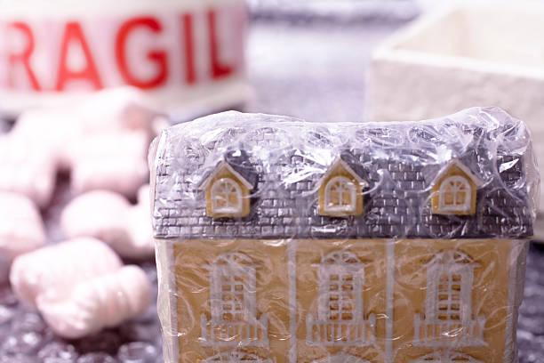 Häuser durch Luft Bublé Kunststoff – Foto