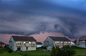 A summer storm brings severe weather to a neighborhood.
