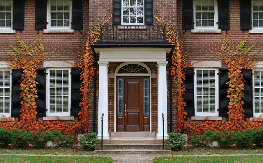 Houses with fall color