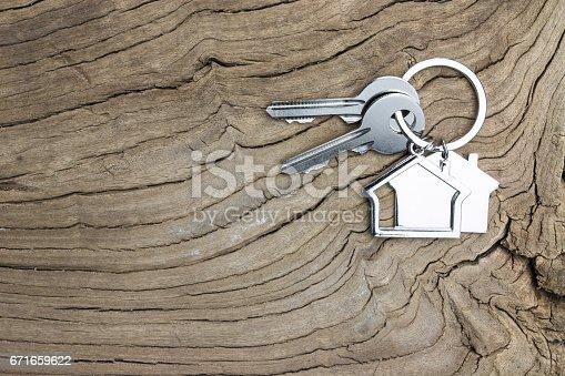 istock House-shaped key 671659622