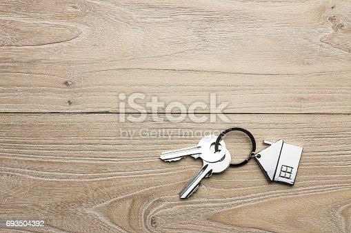 istock House-shaped key 693504392