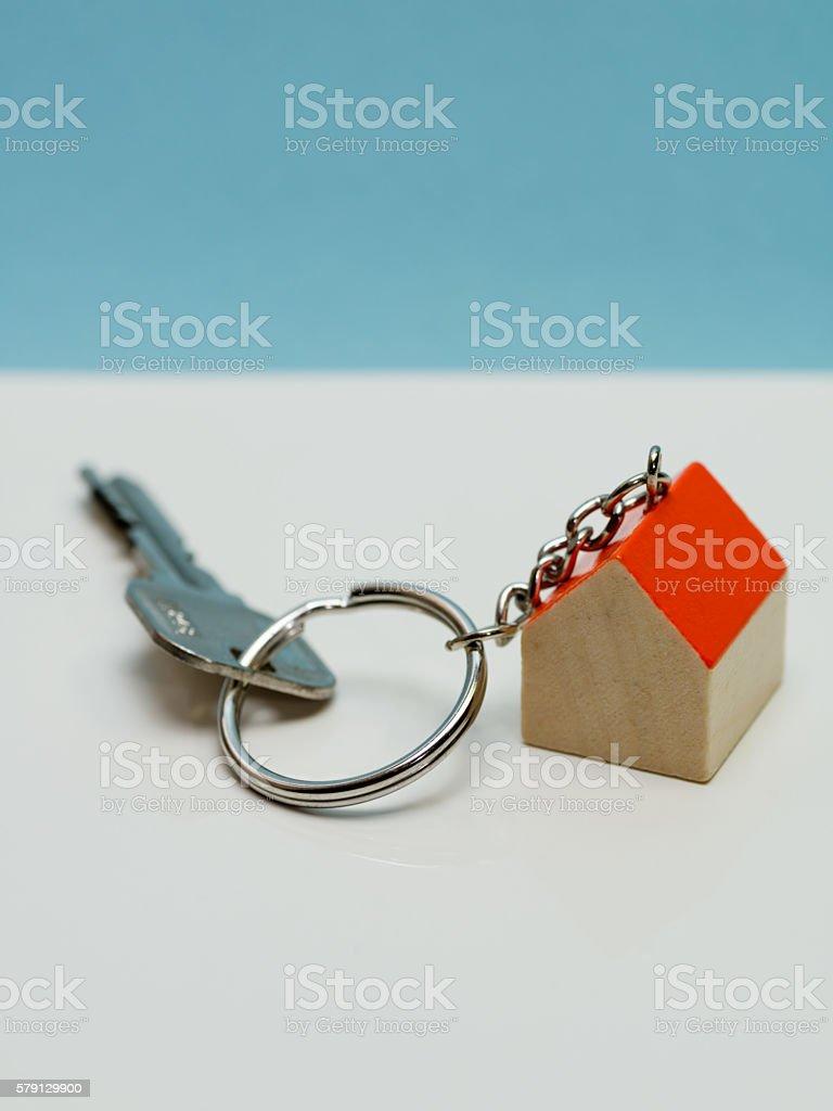 House-shaped key ring stock photo
