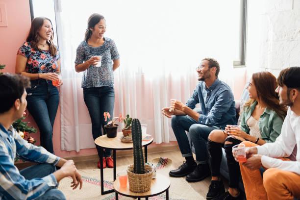 Housewarming party stock photo