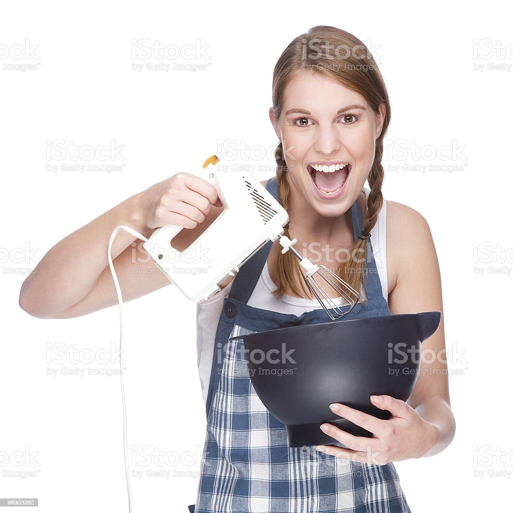 Housewife in kitchen royalty-free stock photo