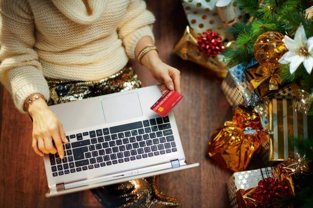 housewife making online shopping on e-commerce site