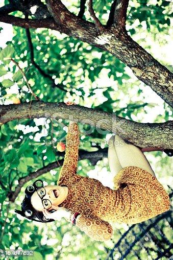 istock Housewife on the tree 157677892