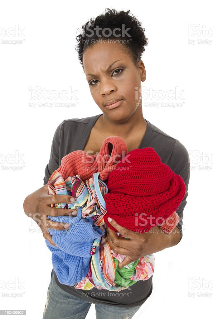 Housework - Dirty Laundry royalty-free stock photo