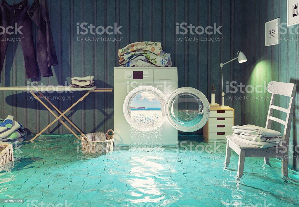 housework dreams. stock photo