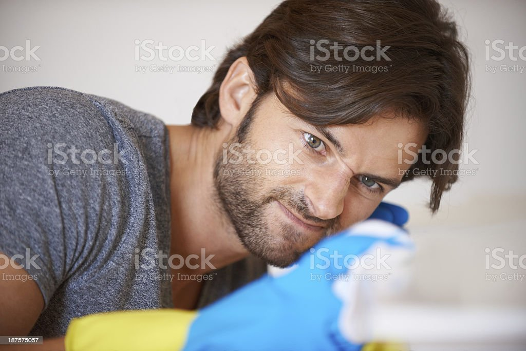 Housework is for everyone royalty-free stock photo