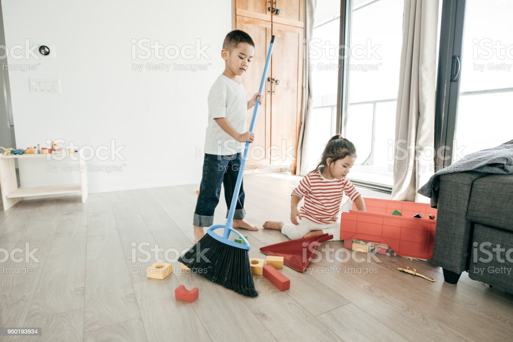 Houseworks for kids stock photo
