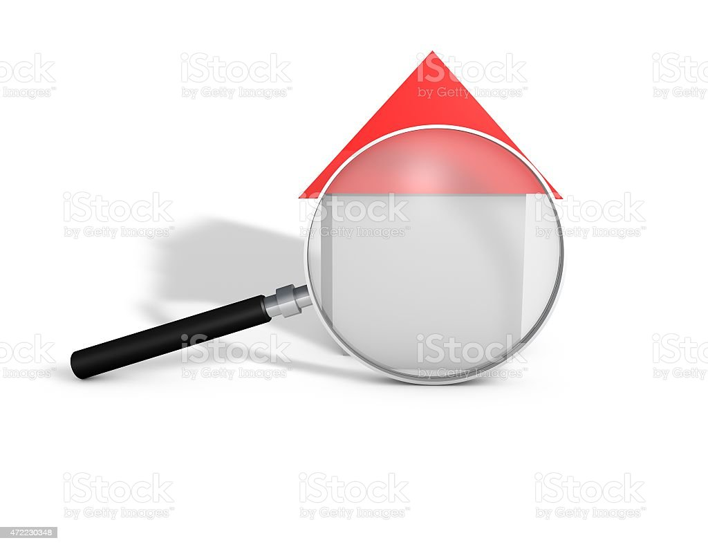 Housing and real estate industry abstract concept with 3d house stock photo
