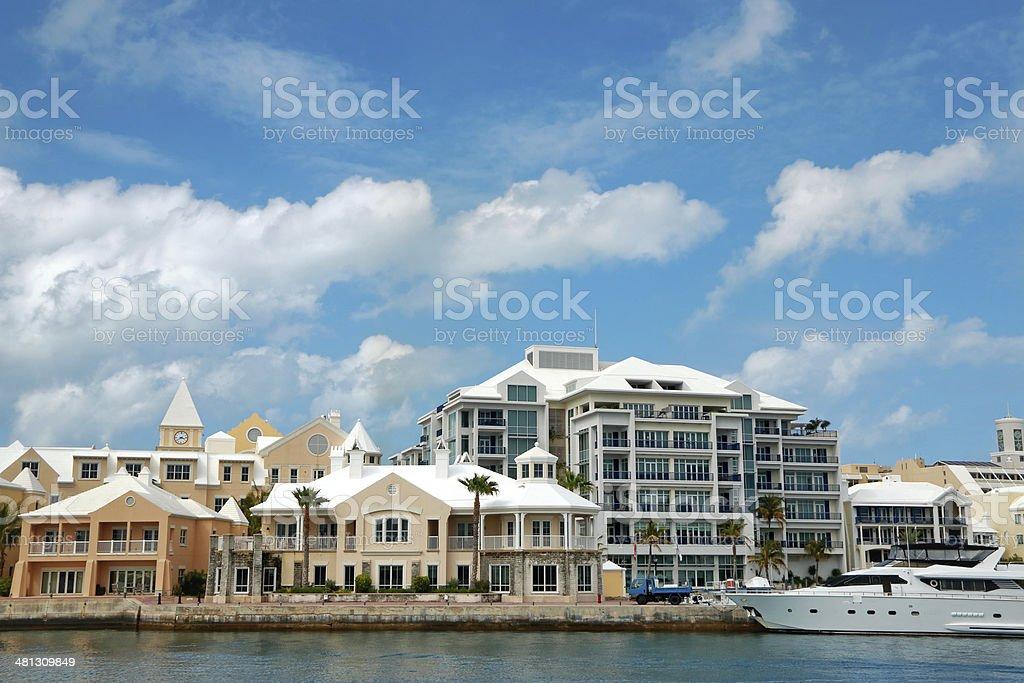 Housing Around Hamilton Harbour stock photo
