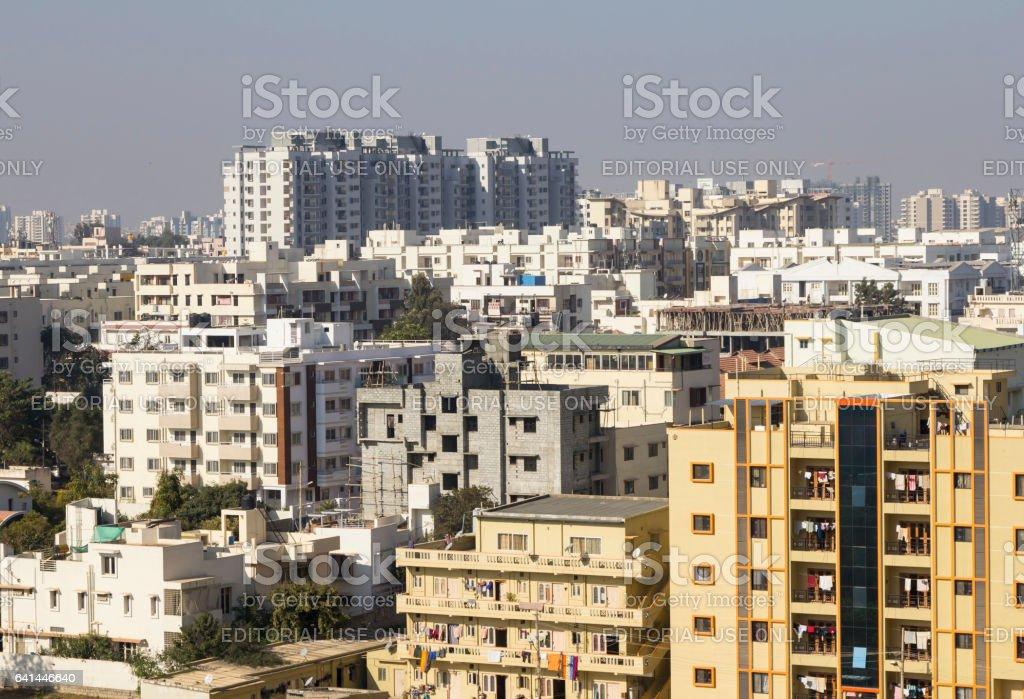 Housing cluster, Bangalore, India stock photo