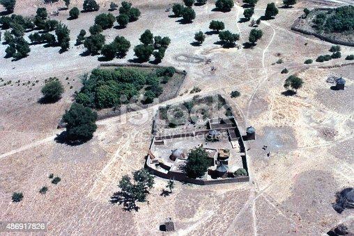 istock housing compound gardens and fields Sahel Burkina Faso West Africa 486917826