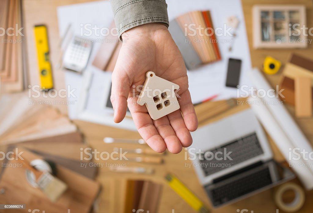 Housing concept stock photo