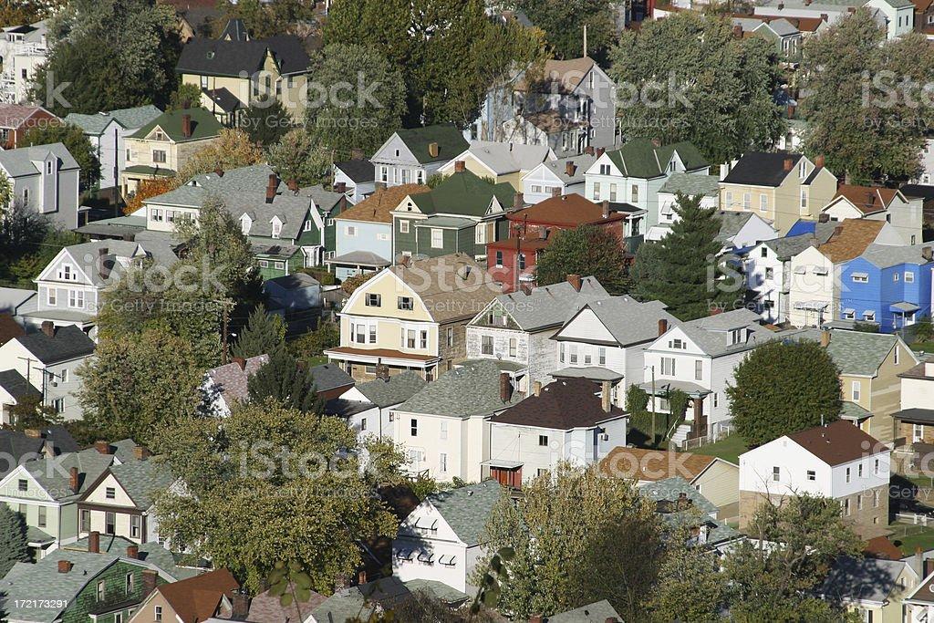 Housing Congestion, Wheeling, West Virginia royalty-free stock photo