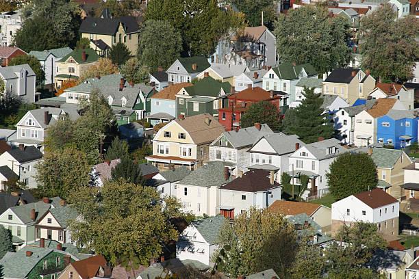 Housing Congestion, Wheeling, West Virginia stock photo
