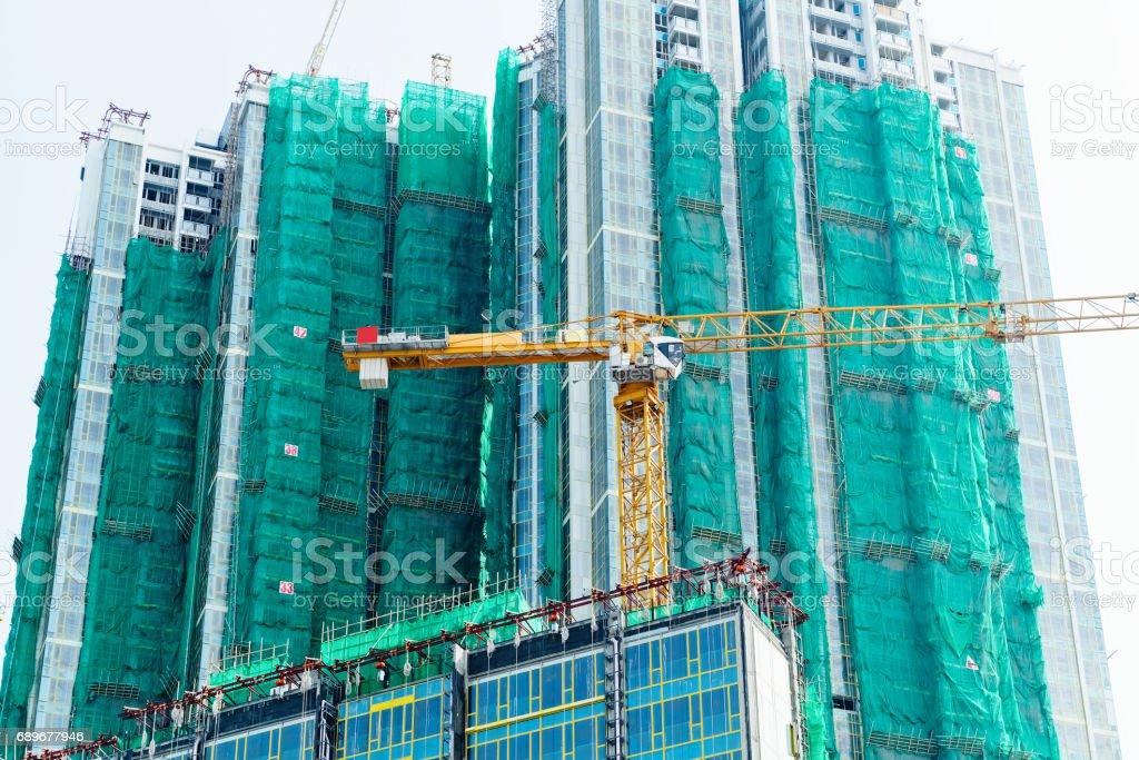 Housing construction in Hong Kong stock photo