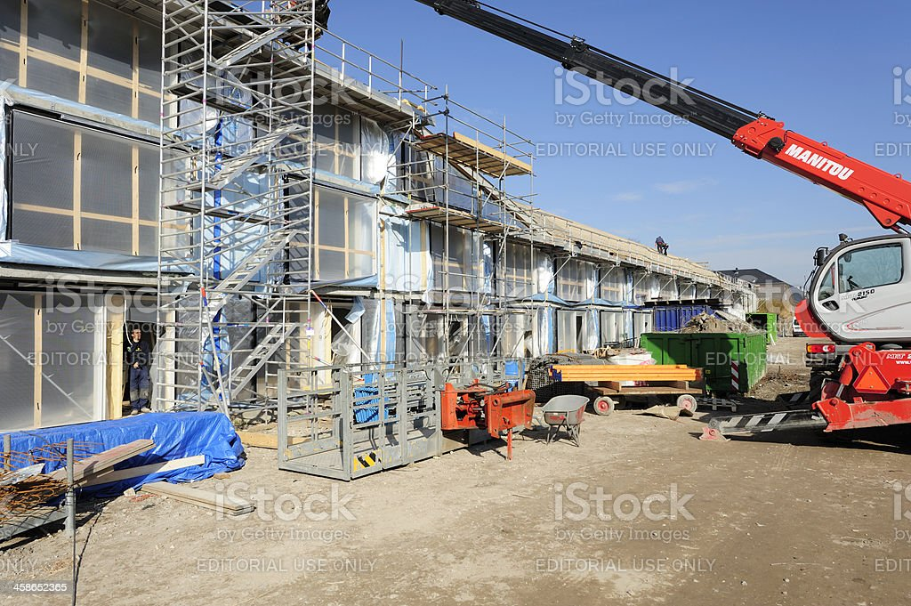 Housing construction site in Utrecht, the Netherlands stock photo