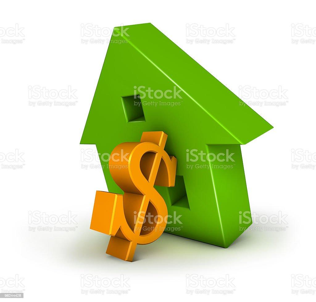 Housing Crisis Dollar royalty-free stock photo