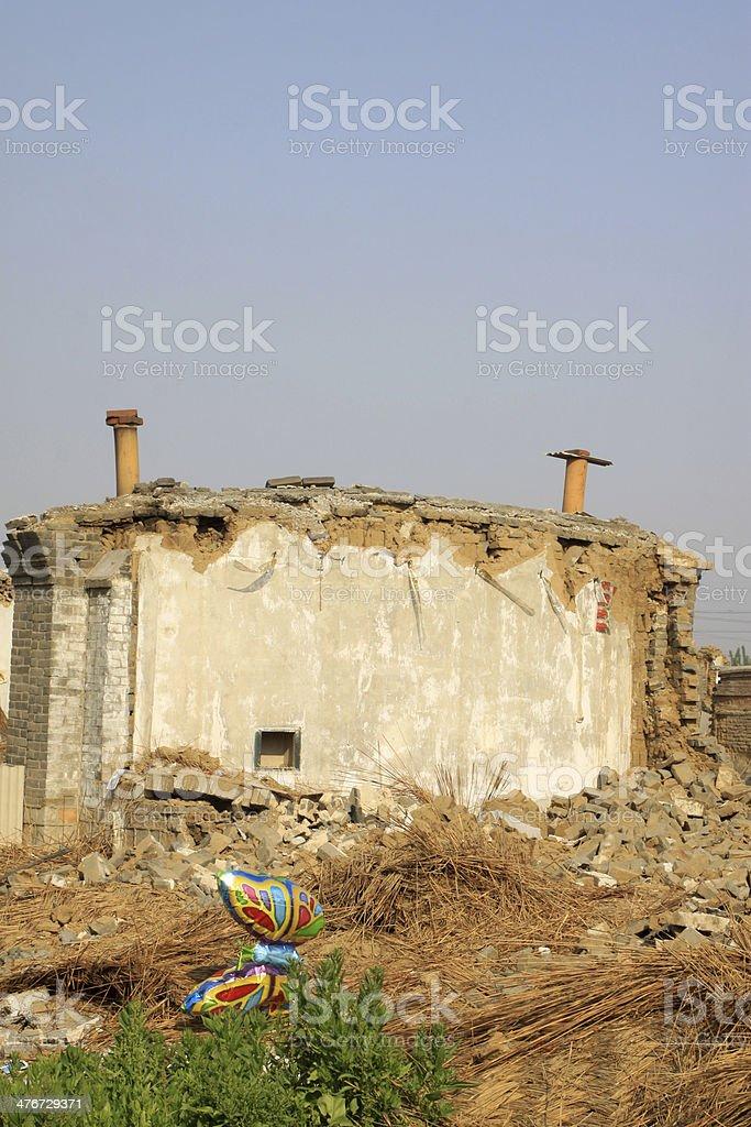 housing demolition materials stock photo