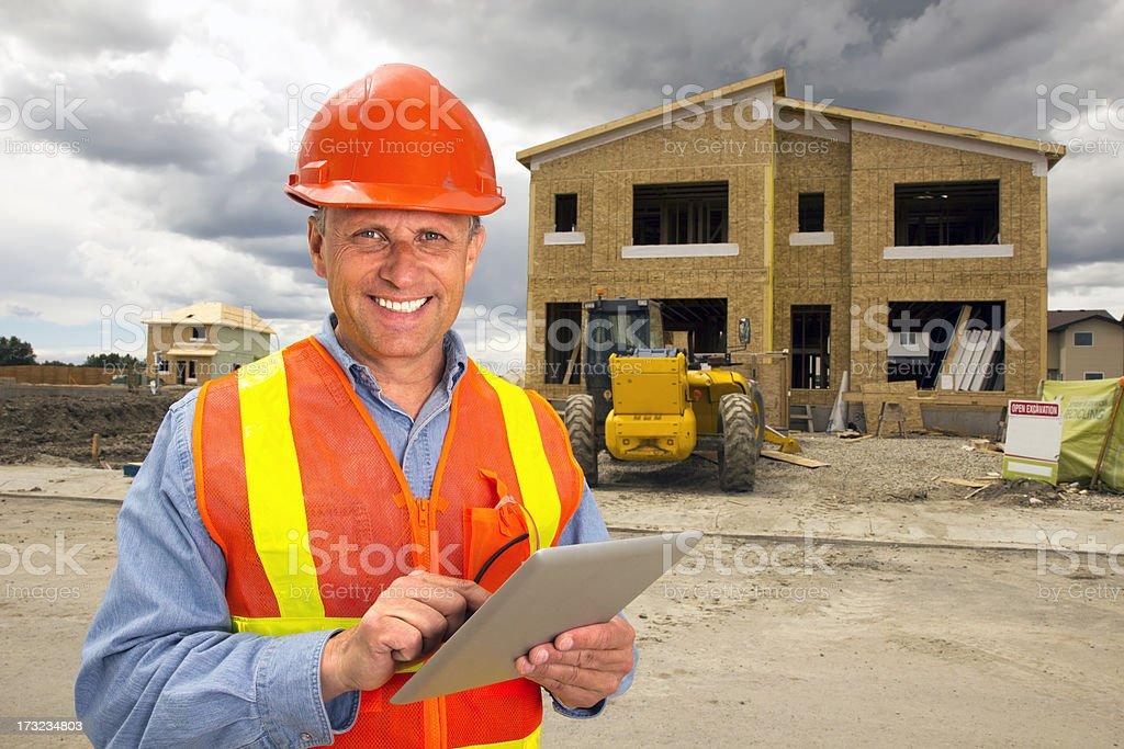 Housing Development and Computer stock photo