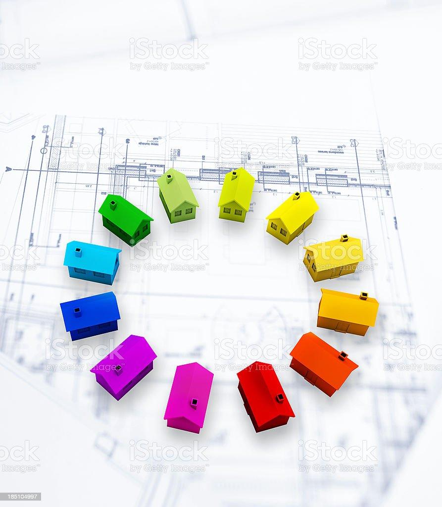 Housing development and planning stock photo