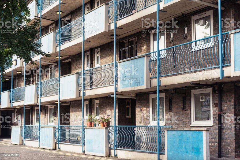 Housing development in Hoxton, East London stock photo