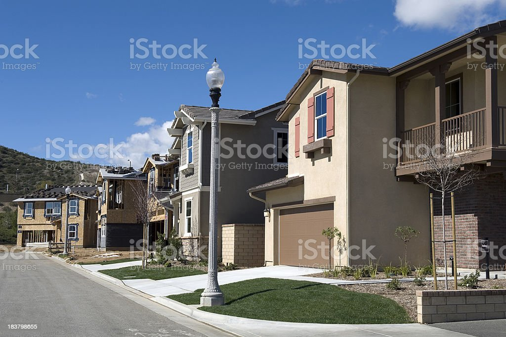 Housing Development Under Construction royalty-free stock photo