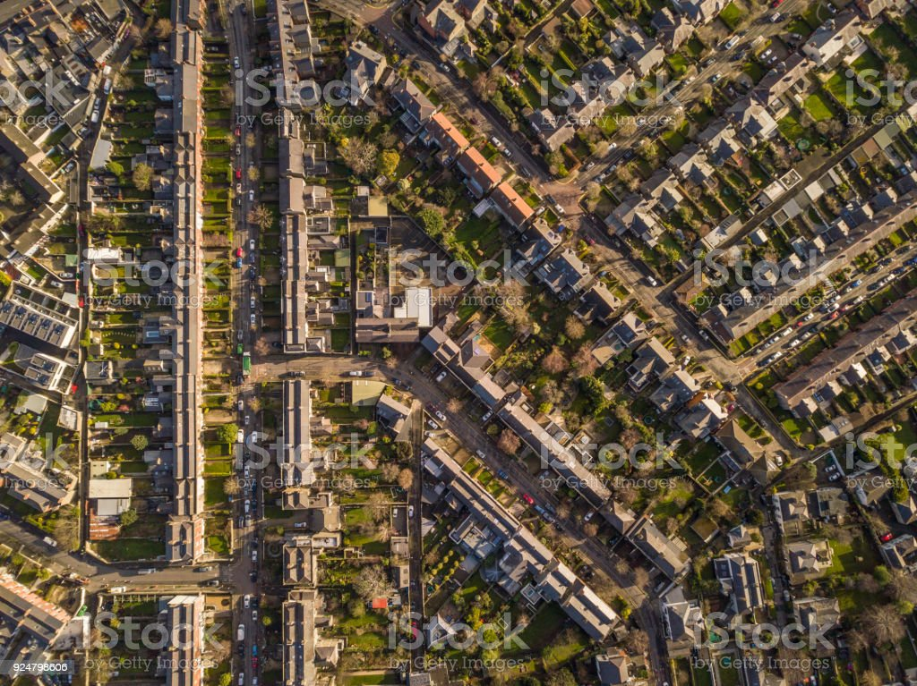 Housing estate in south Dublin, Dublin, Ireland. stock photo