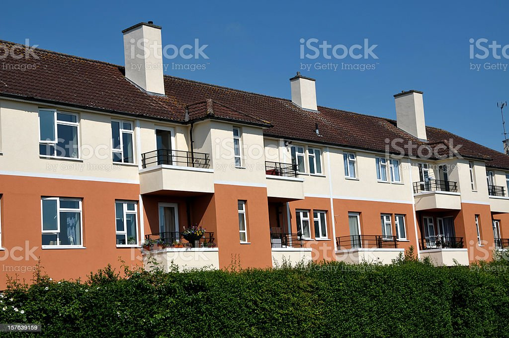 Housing Estate, UK royalty-free stock photo