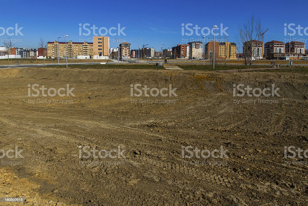 Housing estate under construction - Poligono de viviendas royalty-free stock photo