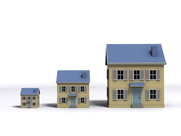 housing wachstum - große häuser stock-fotos und bilder