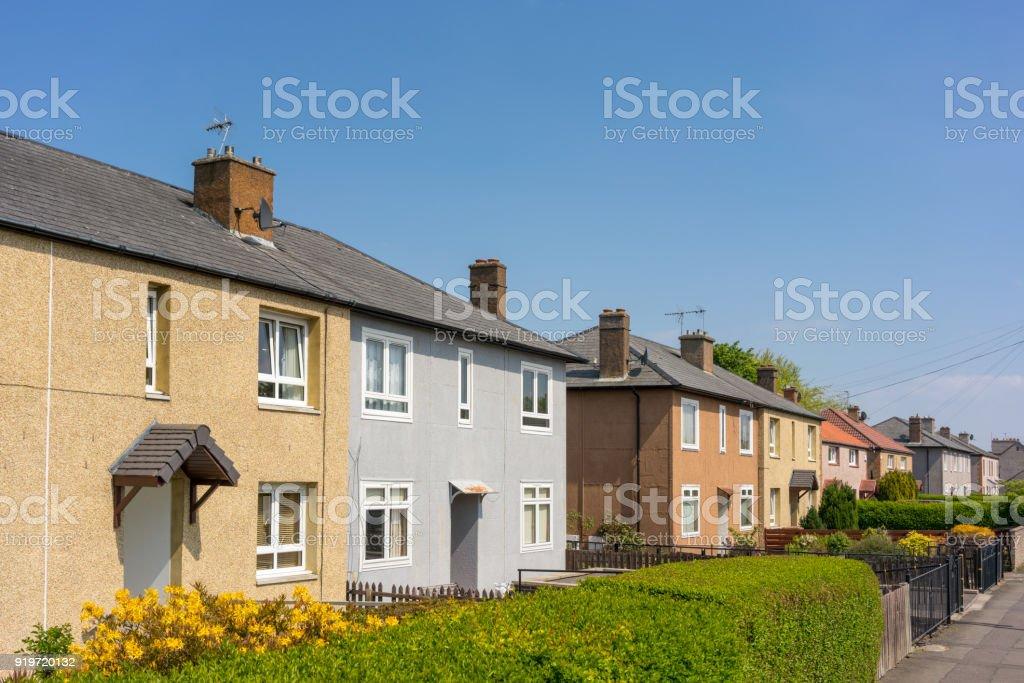 Housing in Edinburgh, Scotland stock photo