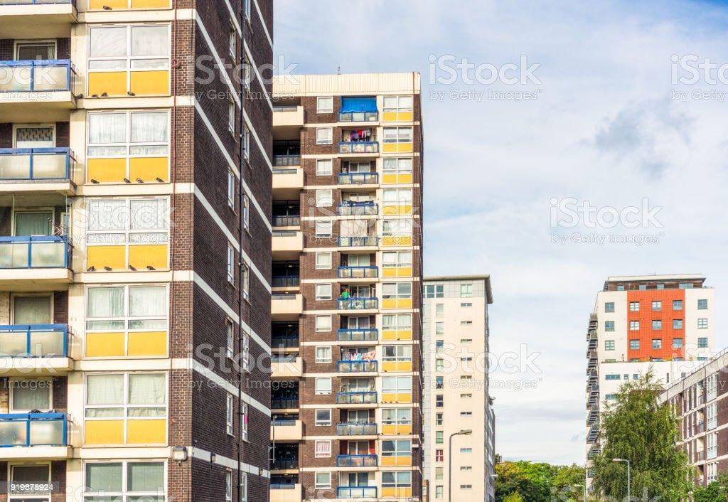 Housing in Hackney, East London stock photo