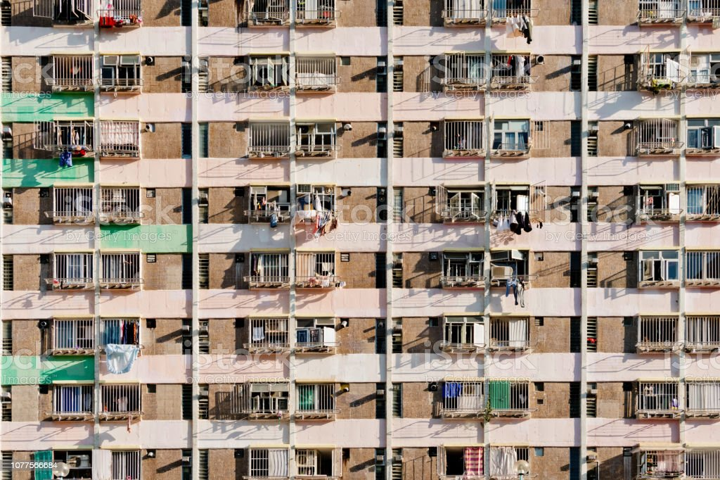 Habitação em Hong Kong - foto de acervo