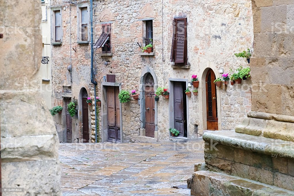 Housing in Volterra stock photo