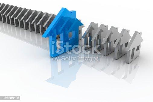 istock Housing market: my choice (isolated on-white) 156288405