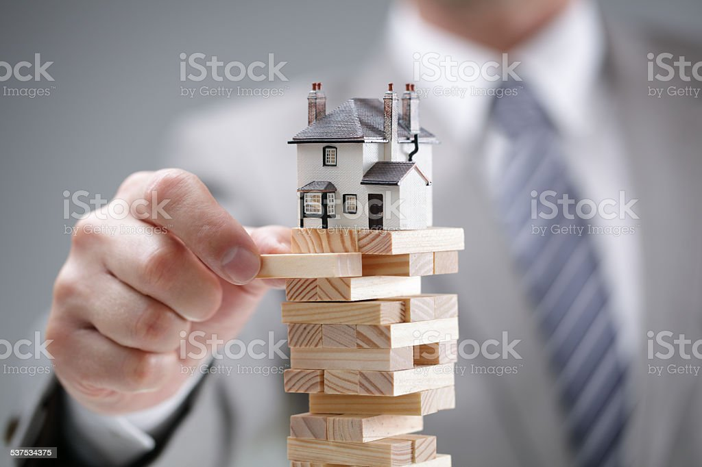 Housing market risk stock photo