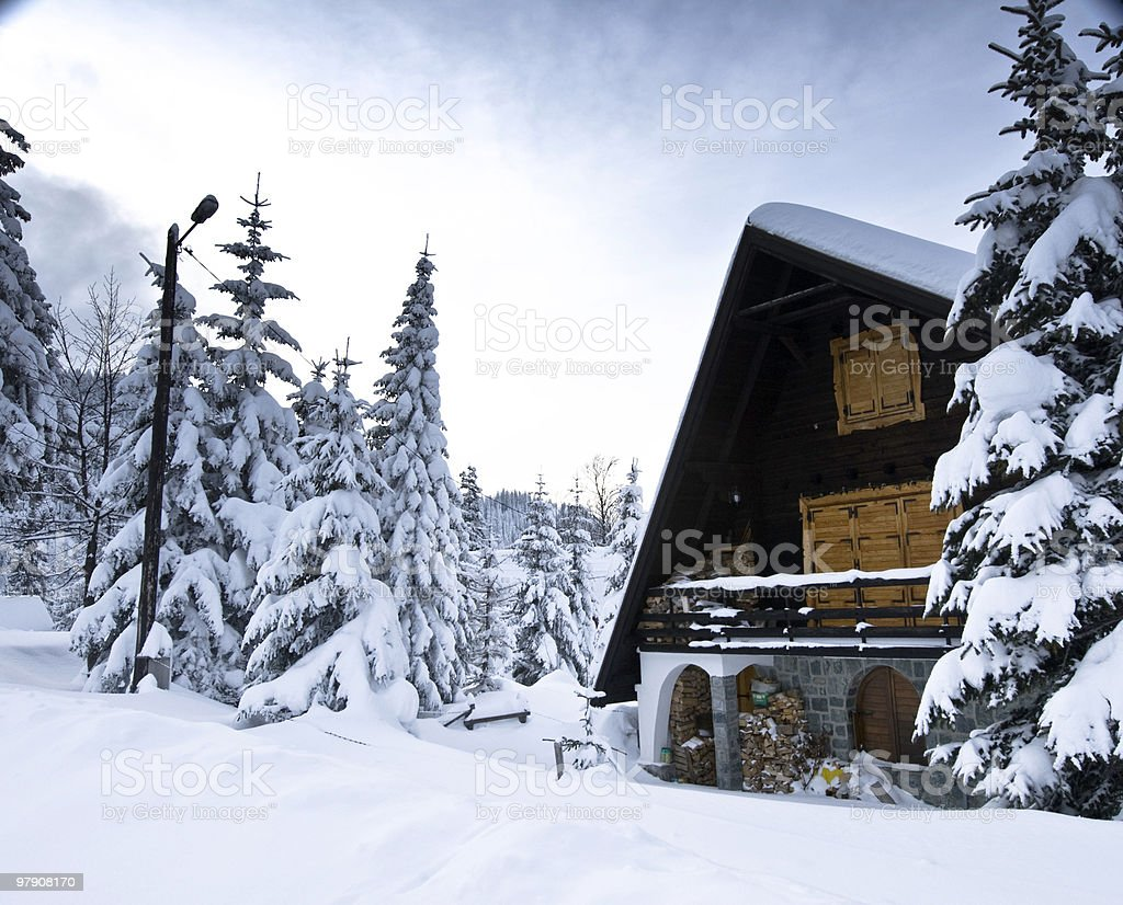 Housing Mountain royalty-free stock photo