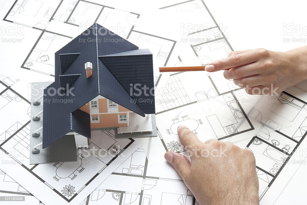 Housing planning royalty-free stock photo