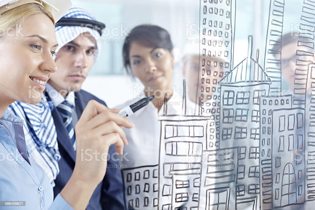Housing project royalty-free stock photo