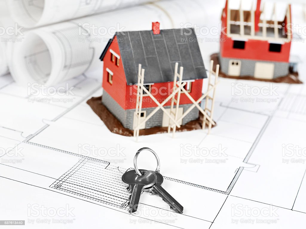 Housing project stock photo