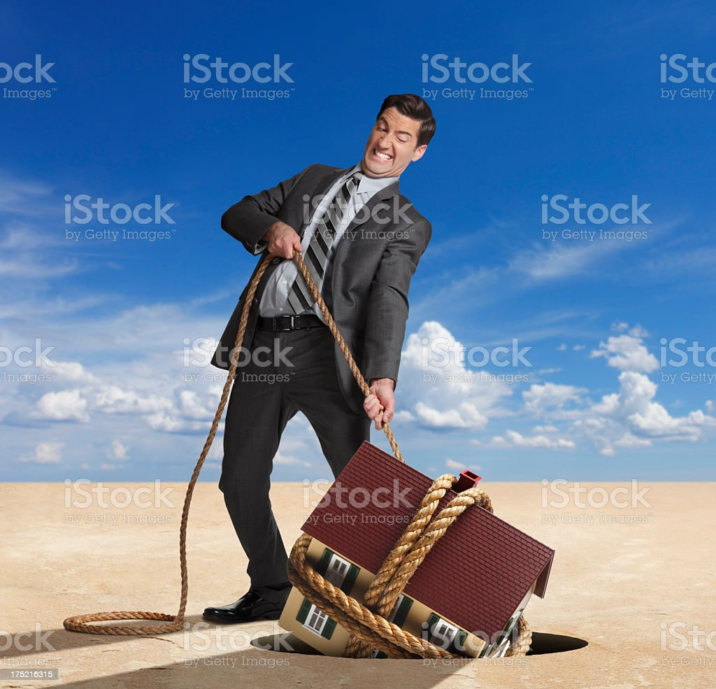 Housing Recovery royalty-free stock photo