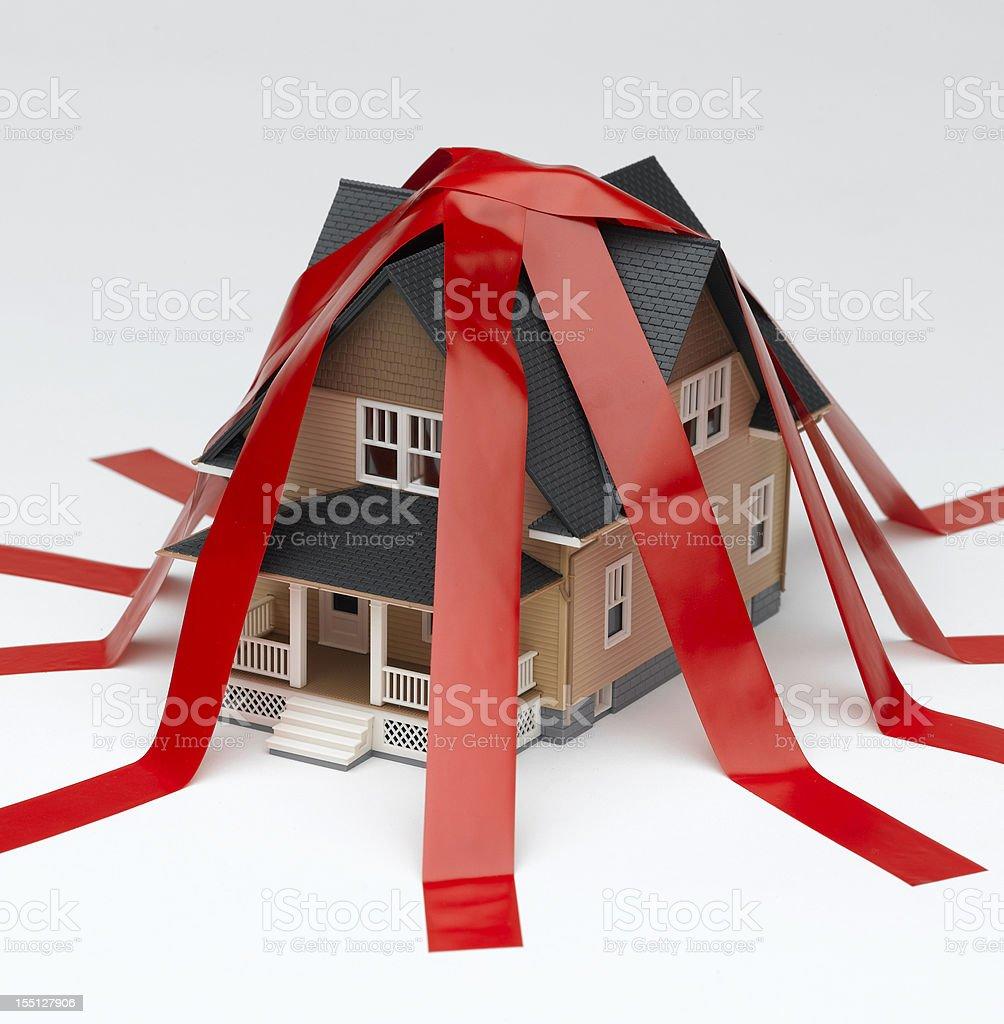 Housing Red Tape stock photo