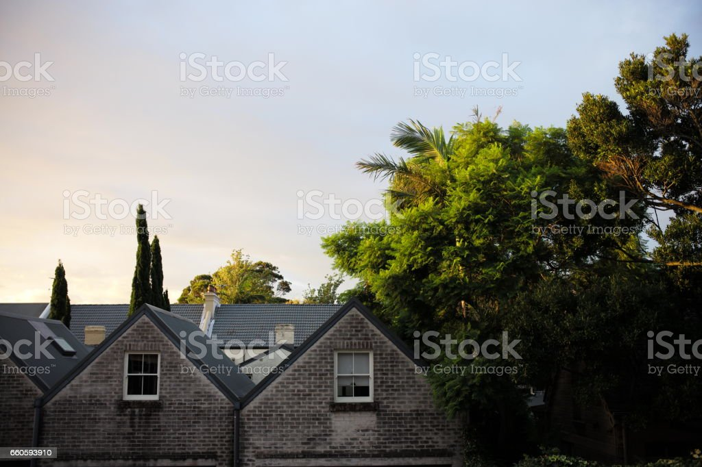 Housing roofs royalty-free stock photo