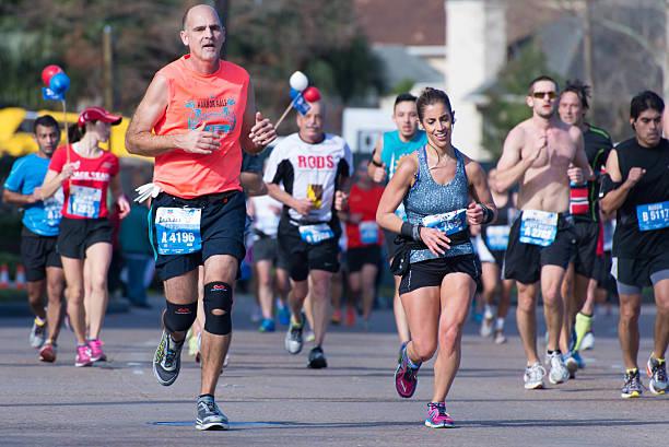 Houston 2015 marathon runners stock photo