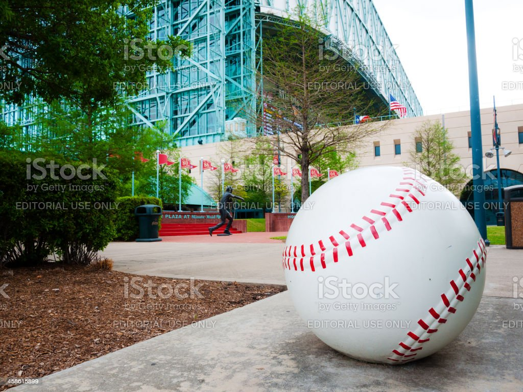 Houston Astros Field, dem Minute Maid Park, dem Baseball-Stadion – Foto